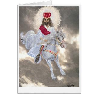 Jesus-Christus Tweede die komen Kaart