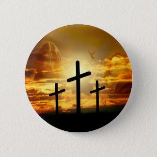 Jesus-Christus zegende Maagdelijke Mary Dove Ronde Button 5,7 Cm