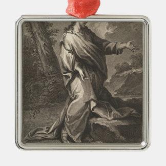 Jesus-Christus Zilverkleurig Vierkant Ornament