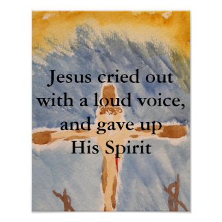 Jesus Crusified Poster