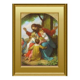 Jesus en de kinderen briefkaart