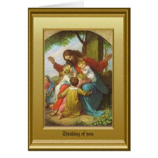 Jesus en de kinderen briefkaarten 0