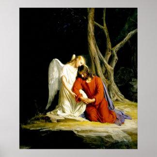 Jesus in de tuin van Druk Gethsemane Afdruk