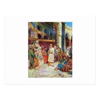 Jesus in het midden van de Artsen in de Tempel Briefkaart