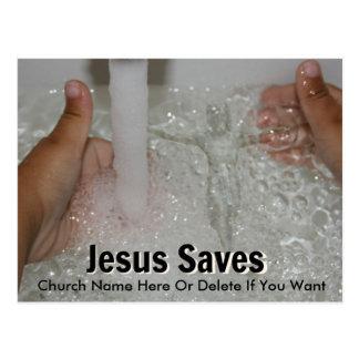 Jesus in Water met Twee Duimen op de Bevordering Briefkaart