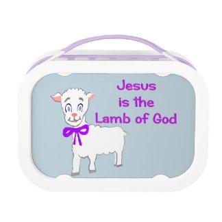 Jesus Is het Lam van Lunchbox van de God