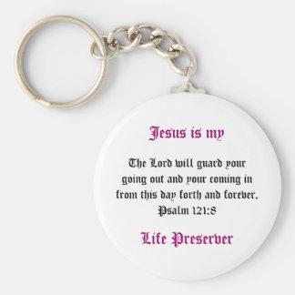 Jesus is mijn Preserver van het Leven Zeer belangr Basic Ronde Button Sleutelhanger