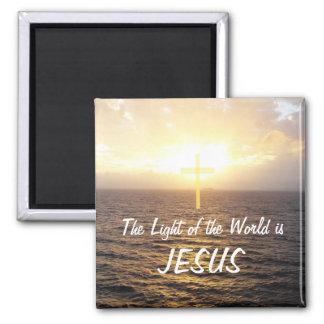 Jesus-licht van de Wereld Vierkante Magneet