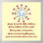 Jesus Loves de Kleine Kinderen Afdruk
