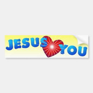 Jesus Loves You Bumpersticker