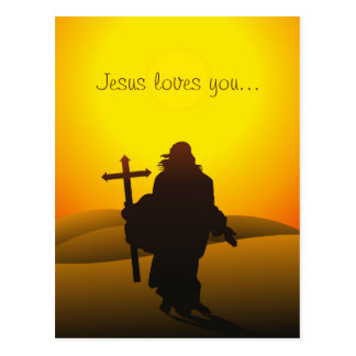 Jesus Loves You Easter Postcard Briefkaart