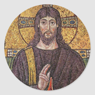 Jesus Mosaic Ronde Sticker