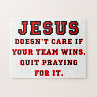 Jesus: Niet een een Zwarte & Rood van de Puzzel