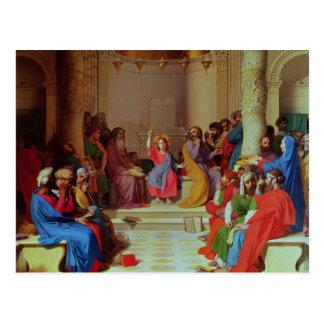 Jesus onder Artsen, 1862 Briefkaart