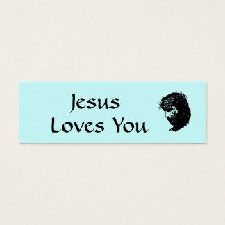 Jesus Profile Card Mini Visitekaartjes