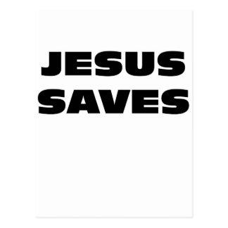 Jesus Saves Briefkaart