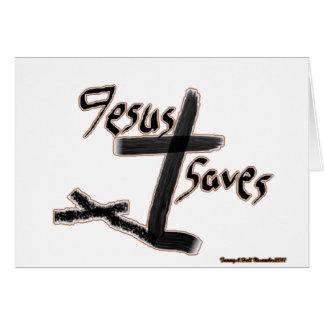 Jesus Saves Wenskaart
