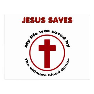 Jesus spaart, de Christelijke t-shirt van de Briefkaart