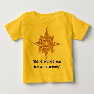 Jesus wil me voor een zonnestraal! baby t shirts