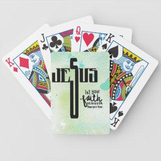 Jesus Word Art Poker Kaarten