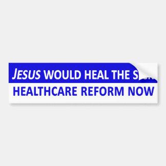 Jesus Would heelt de Zieke Sticker van de Bumper