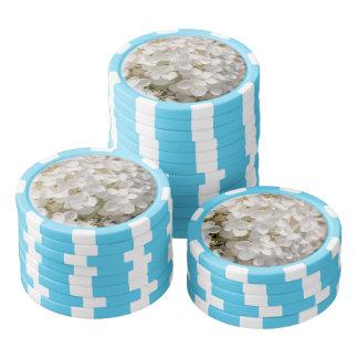Jeton van poker, bloemen wit pokerchips