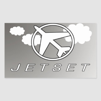 Jetset   Hollidays   Vlieg weg Rechthoekige Sticker