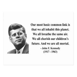 JFK Citaat 2b Briefkaart