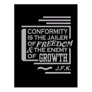 JFK citaatbriefkaart Briefkaart