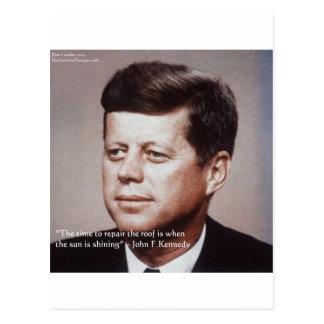 JFK herstelt het Beroemde Citaat van het Dak Briefkaart