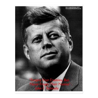 """JFK """"vergeeft"""" de Giften & de Kaart van het Citaat Briefkaart"""