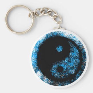 jGibney van Yang van Yin Blauwe Zwarte de Gift van Sleutelhanger