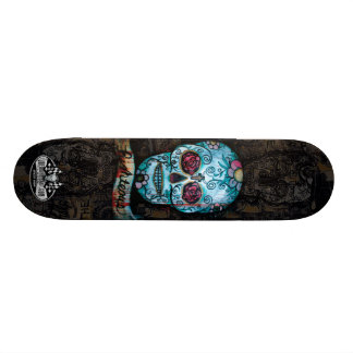 Joe Morris Art Skull Deck II 18,4 Cm Mini Skateboard Deck