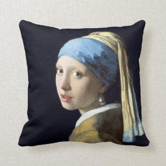 Johannes Vermeer Girl met een Oorring van de Parel Sierkussen