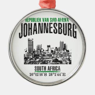 Johannesburg Zilverkleurig Rond Ornament