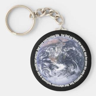 John 3:16 rond Aarde Sleutelhanger