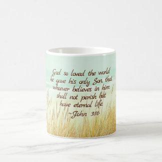 John 3:16 voor God hield zo van de wereld, het Koffiemok