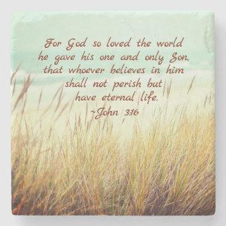John 3:16 voor God hield zo van de wereld, het Stenen Onderzetter