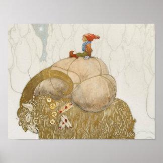 John Bauer - de Geit van Kerstmis Poster