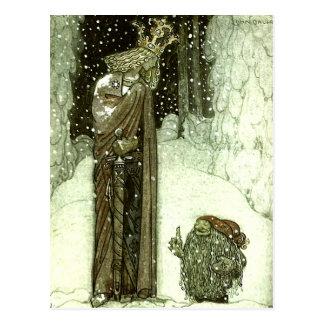John Bauer de Prinses en de Sleeplijn Briefkaart
