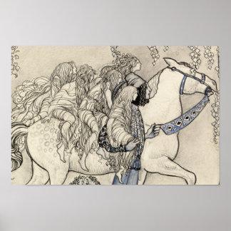 John Bauer - het Paard dat hij bij het Beetje Poster