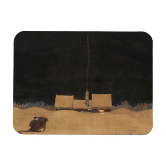 John Bauer-The Cottage bij de Voet van de Berg Magneet