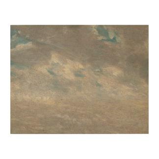 John Constable - de Studie van de Wolk Afdrukken Op Hout