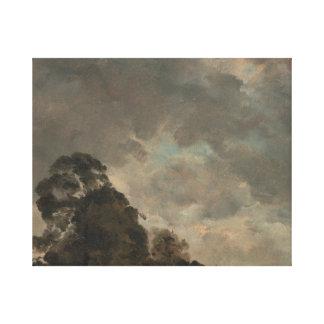 John Constable - de Studie van de Wolk Canvas Afdrukken