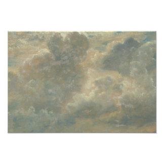 John Constable - de Studie van de Wolk Foto Afdruk