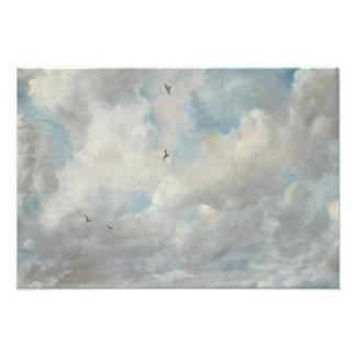 John Constable - de Studie van de Wolk Foto Kunst