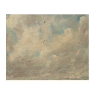 John Constable - de Studie van de Wolk Foto Op Hout