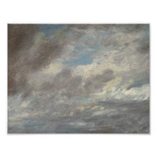 John Constable - de Studie van de Wolk Foto Prints