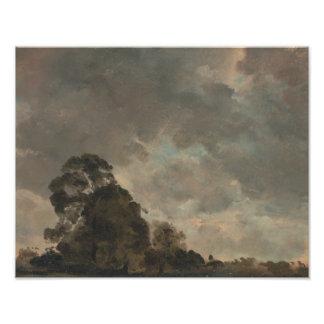 John Constable - de Studie van de Wolk Fotoafdruk