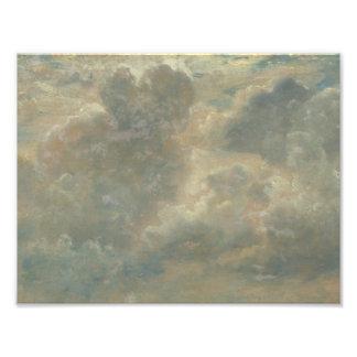John Constable - de Studie van de Wolk Fotografische Afdruk